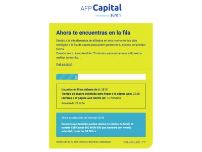 Fila virtual de AFP Capital