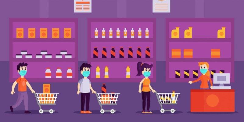 Supermercado y comercio en Coronavirus