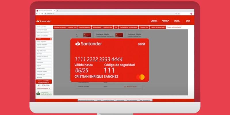 La nueva tarjeta de débito digital de Banco Santander