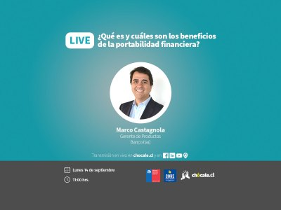 Transmisión sobre qué es la portabilidad financiera con Marco Castagnola, gerente de Productos de Itaú