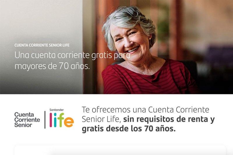 La nueva cuenta Senior Life de Banco Santander Chile para adultos mayores