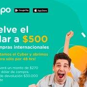 Promoción Dólar a $500 de la tarjeta de prepago Tenpo