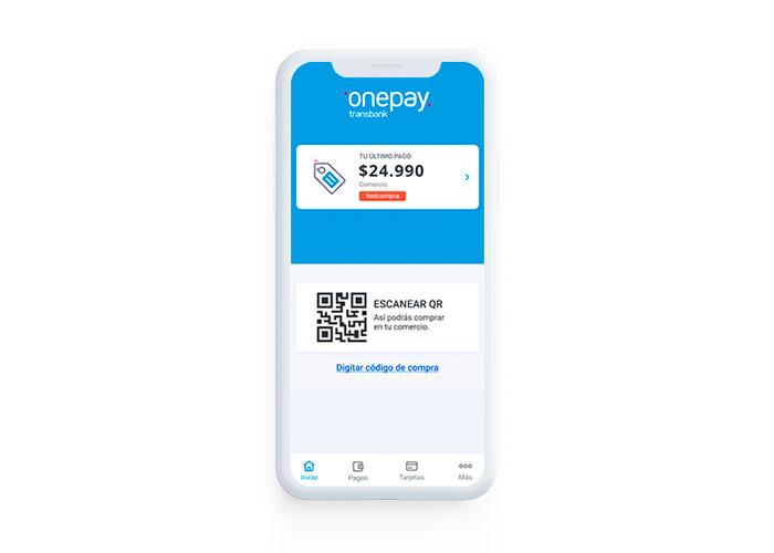 Onepay es la billetera digital de Transbank para pagar con el celular