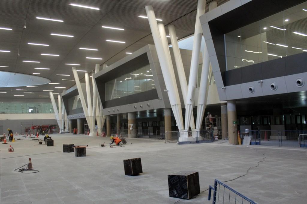 Vista de PDI y AVSEC en el Terminal Internacional (T2) de Nuevo Pudahuel
