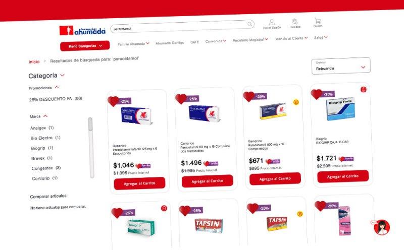 El nuevo e-commerce de Farmacias Ahumada