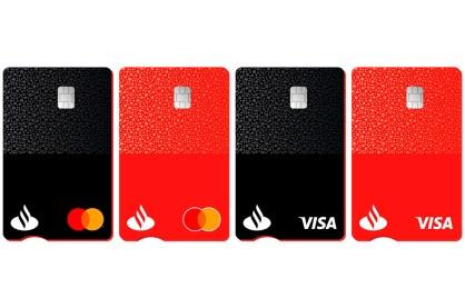 El nuevo diseño de las tarjetas de Banco Santander en Europa.