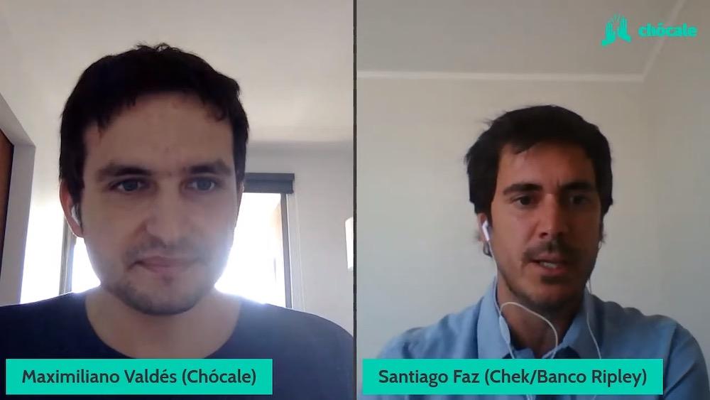 Santiago Faz, gerente comercial de Chek de Banco Ripley, conversó con Max Valdés de Chócale