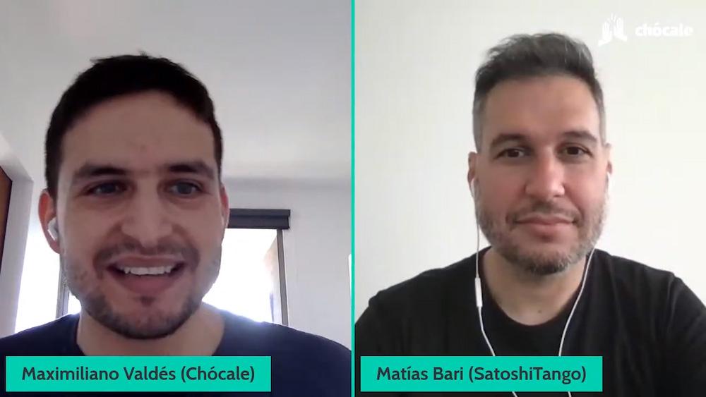 Matías Bari, CEO y co-fundador de SatoshiTango, conversó con Max Valdés, editor de Chócale