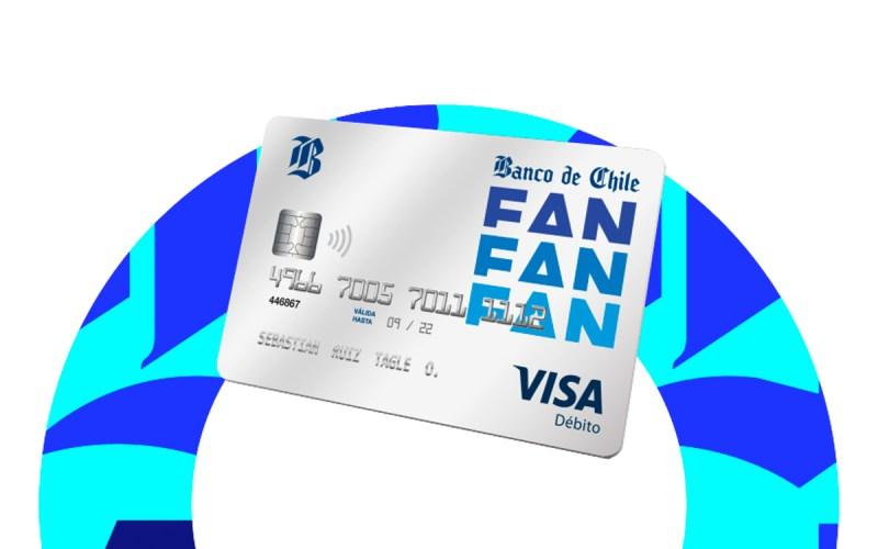 La tarjeta de la Cuenta FAN del Banco de Chile