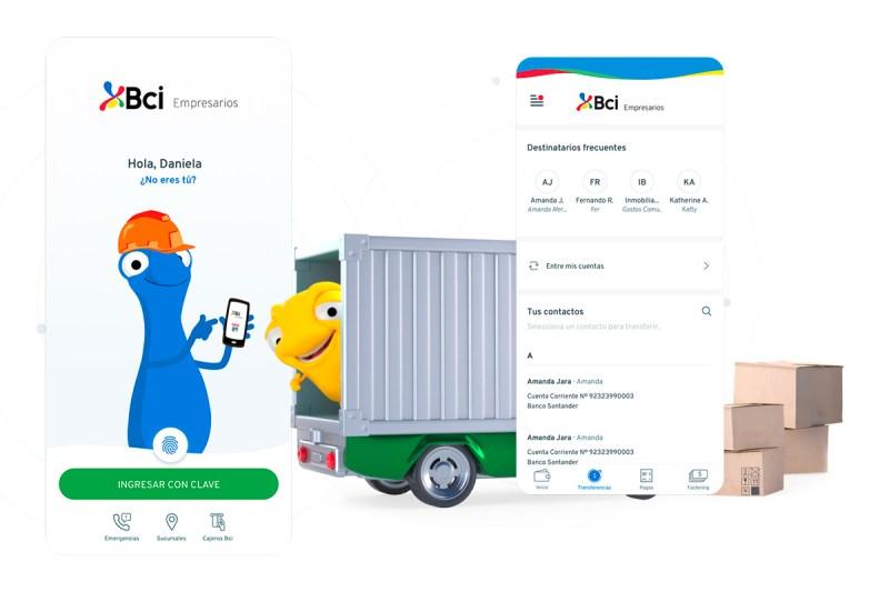 La nueva app Bci Empresarios