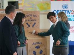 Mascarillas recicladas