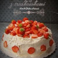 Klasyczny tort z truskawkami i bita smietana
