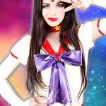 Sailor Mars costume in latex by Catalyst