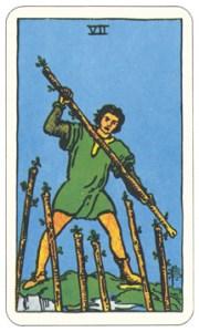 ワンド7,タロットカード
