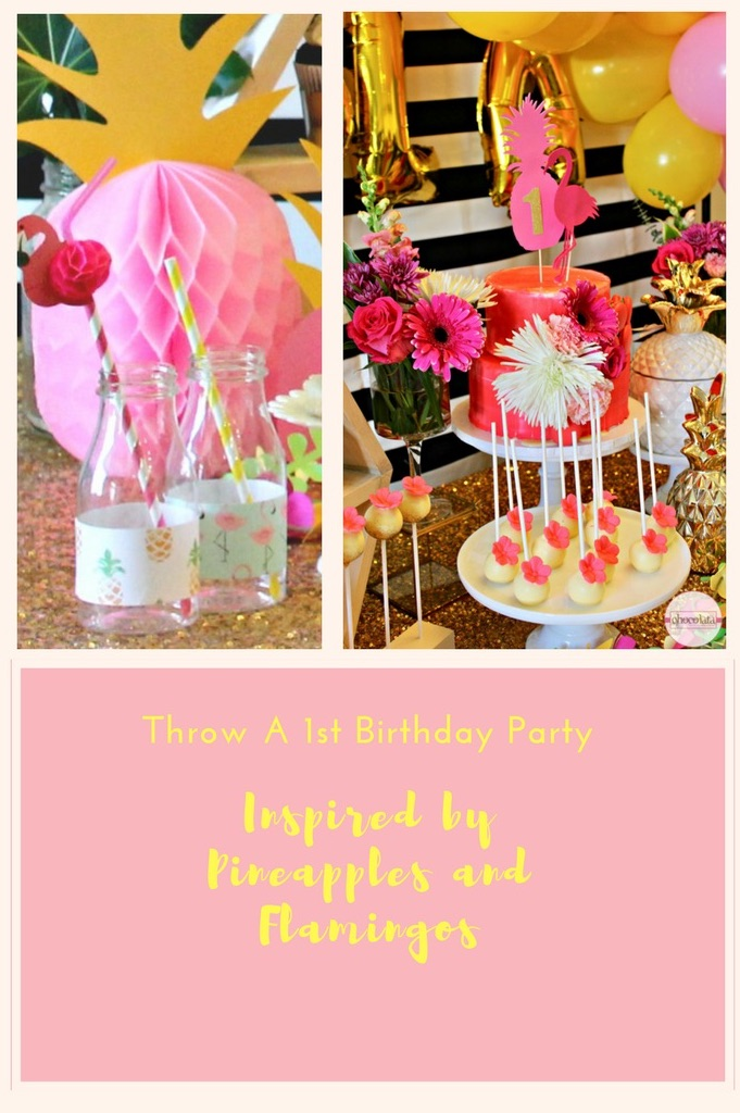 pineapple flamingo party, sweet table, montreal dessert table