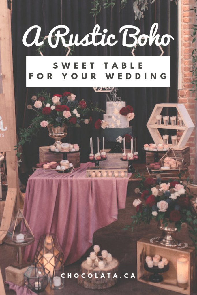 rustic boho sweet table
