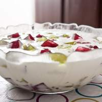 Sweet of cream with gelatin