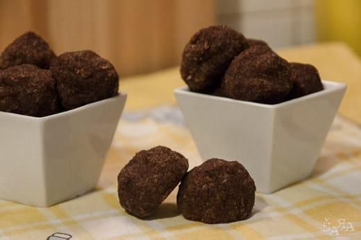 Bolinhos de coco e chocolate