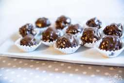 Chocolates de arroz puff