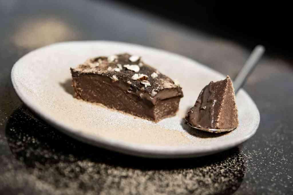 Fatia de Tarte de chocolate vegan
