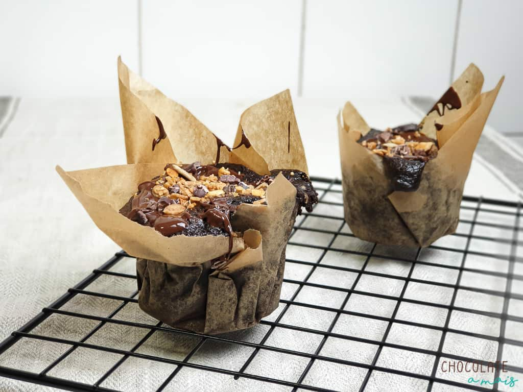 Muffins de chocolate S.O.S em 15 minutos