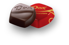 Dove individually-wrapped dark chocolate - from dove.com