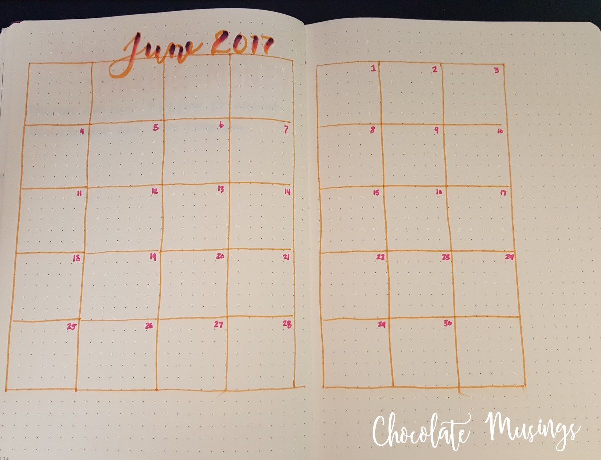 June Calendar Layout