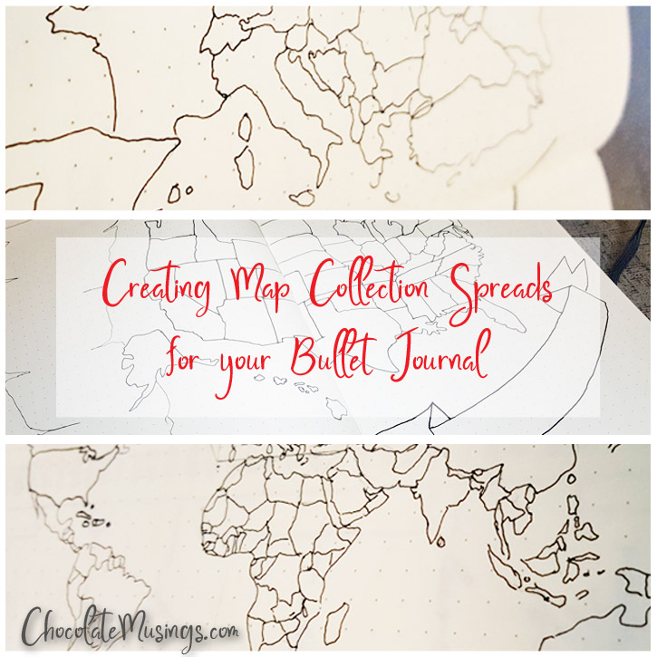 Creating Map Collection Spreads for your Bullet Journal