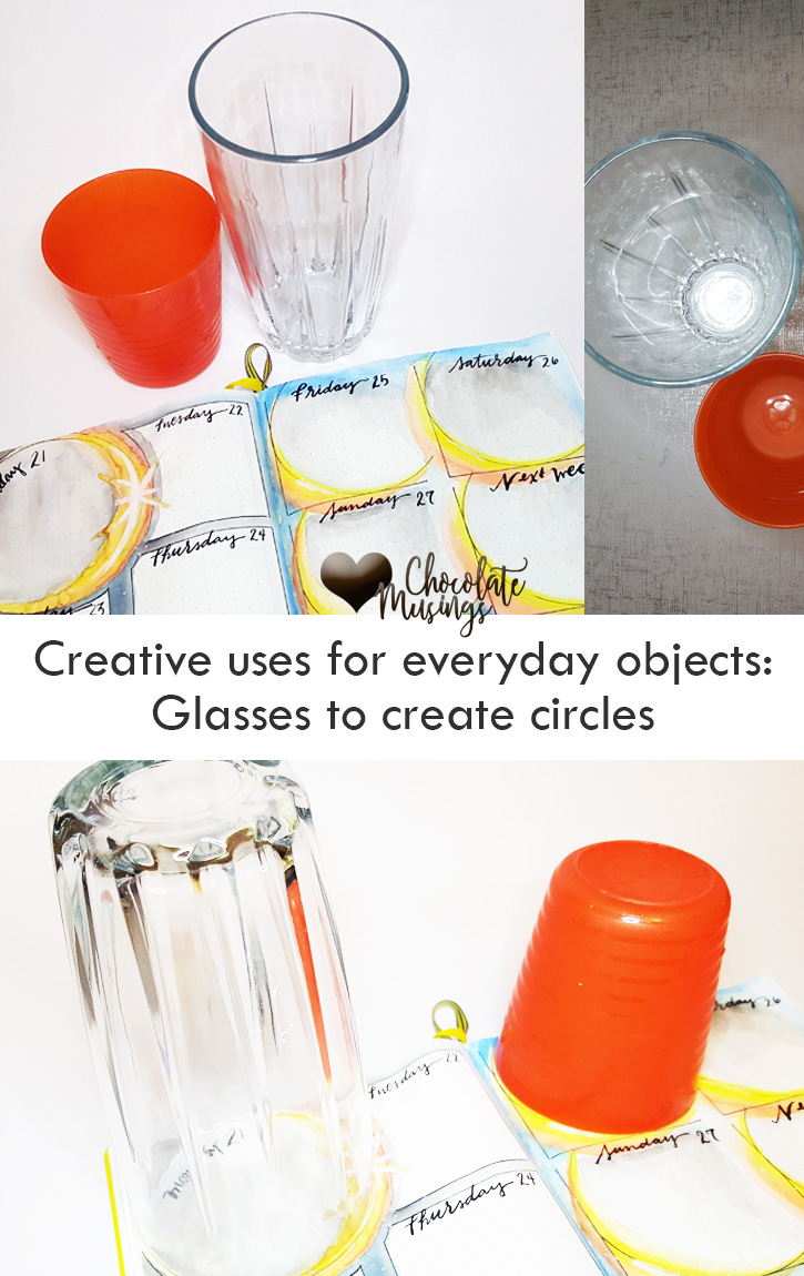 Creative uses for everyday objects - glasses to make circles