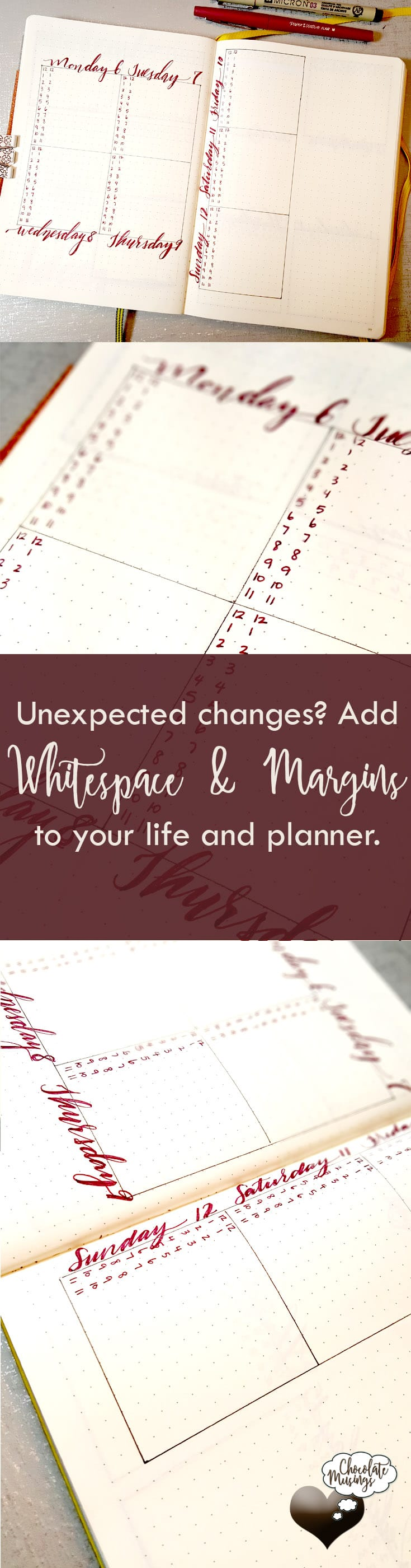 Add margin and whitespace to your planner and your life