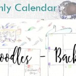Plan With Me: February Monthly Calendar Doodles (+Video)