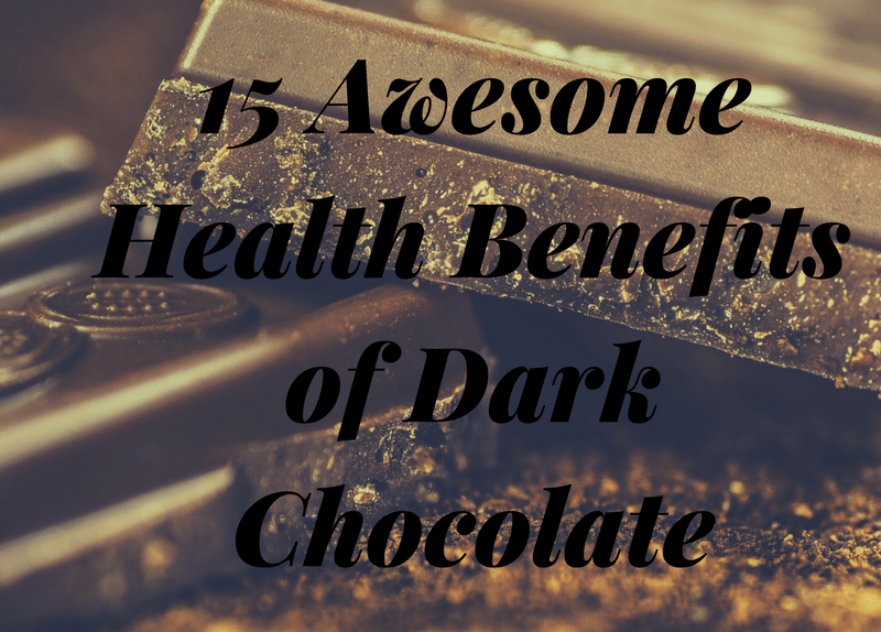 15 Awesome health benefits of dark chocolate with [Infographic]