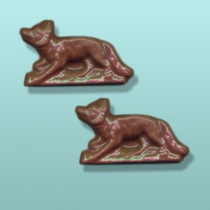 2 pc. Chocolate Running Fox Favor