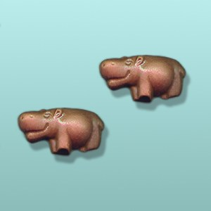 2 pc. Chocolate Hippo Mini Favor I
