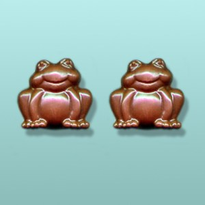 2 pc. Chocolate Smiling Frog Mini Favor