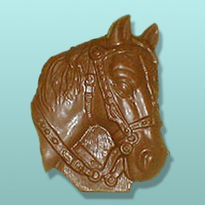 Chocolate Horse Head with Bridle Plaque