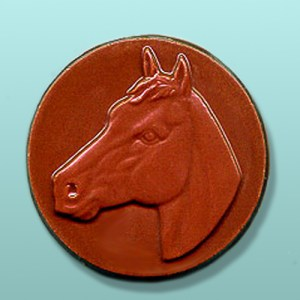 Chocolate Horse Head Medallion Favor