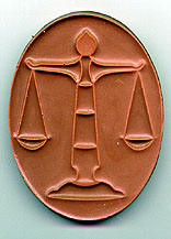 Oval Scales Of Justice Plaque