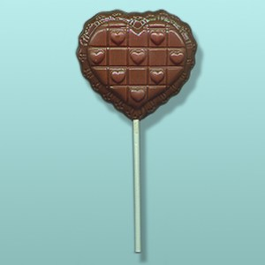 Chocolate Quilted Lacy Heart Favor