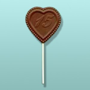 Chocolate Number 15 Heart Party Favor