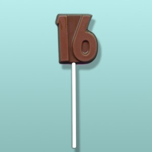 Chocolate Number 16 Party Favor