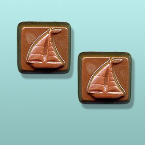 2 pc. Chocolate Sailboat Favor