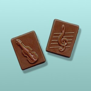 2 pc. Chocolate Violin Mini Favor