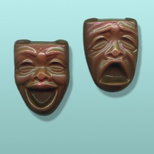 2 pc. Chocolate Comedy Tragedy Masks