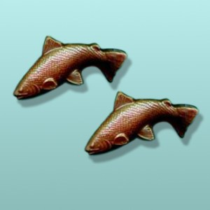 2 pc. Chocolate Salmon Party Favor