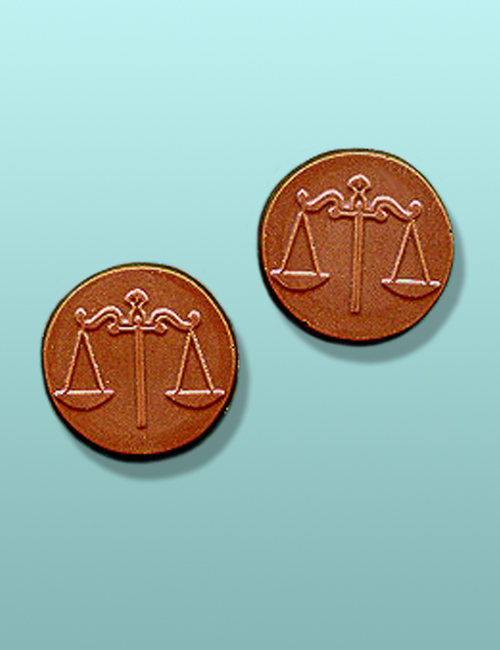 2 pc. Chocolate Scales of Justice Mini Favor