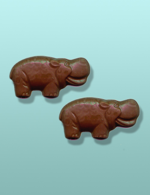 2 pc. Chocolate Hippo Mini Favor II