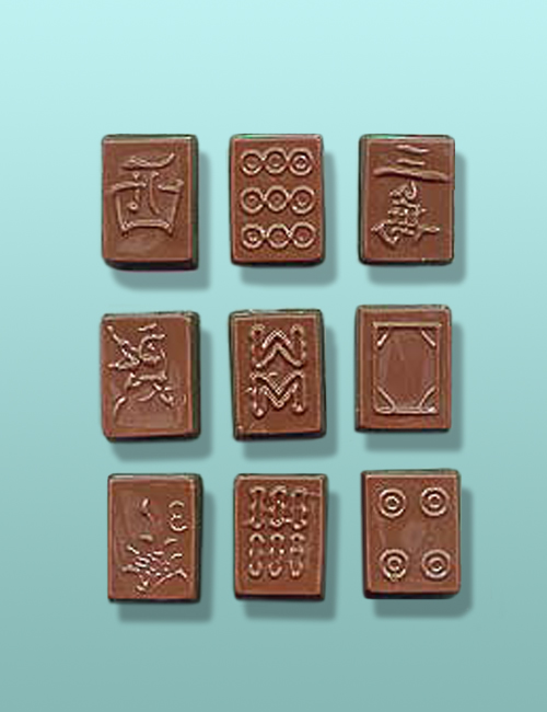 2 pc. Chocolate Mahjong Tile Favor