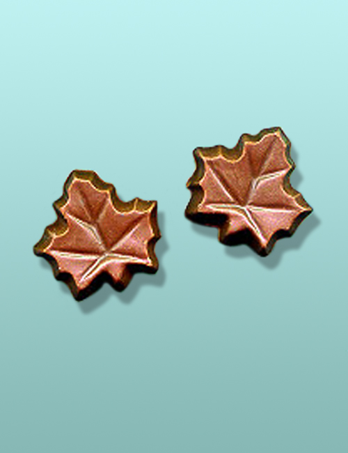 2 pc. Chocolate Maple Leaf Mini Party Favor