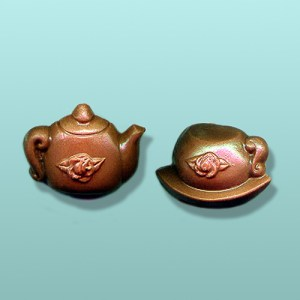 2 pc. Chocolate Teapot And Cup Mini Favor